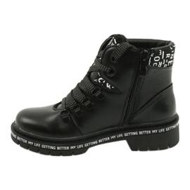 Tisk Módní černé boty Evento 20DZ60-3232 bílá černá 1