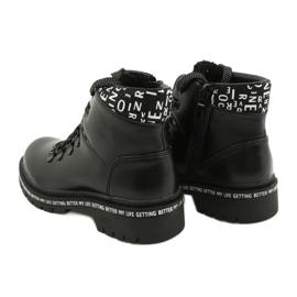 Tisk Módní černé boty Evento 20DZ60-3232 bílá černá 3