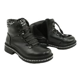 Tisk Módní černé boty Evento 20DZ60-3232 bílá černá 4