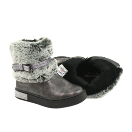 American Club Americké cínové boty na zip se zapínáním na cín stříbro šedá 4