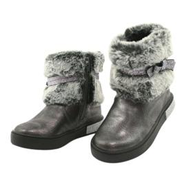American Club Americké cínové boty na zip se zapínáním na cín stříbro šedá 2