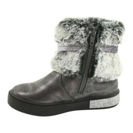 American Club Americké cínové boty na zip se zapínáním na cín stříbro šedá 1
