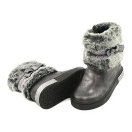American Club Americké cínové boty na zip se zapínáním na cín stříbro šedá 3