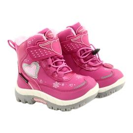 Softshellové boty American Club s membránou HL48 / 20 růžová růžový stříbro 4