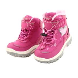 Softshellové boty American Club s membránou HL48 / 20 růžová růžový stříbro 2