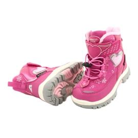 Softshellové boty American Club s membránou HL48 / 20 růžová růžový stříbro 3
