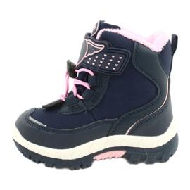 Softshellové boty American Club s membránou HL48 / 20 navy válečné loďstvo růžový stříbro 1