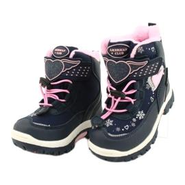 Softshellové boty American Club s membránou HL48 / 20 navy válečné loďstvo růžový stříbro 2