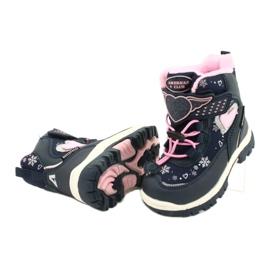 Softshellové boty American Club s membránou HL48 / 20 navy válečné loďstvo růžový stříbro 3
