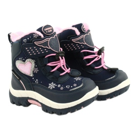 Softshellové boty American Club s membránou HL48 / 20 navy válečné loďstvo růžový stříbro 4