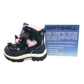 Softshellové boty American Club s membránou HL48 / 20 navy válečné loďstvo růžový stříbro 5
