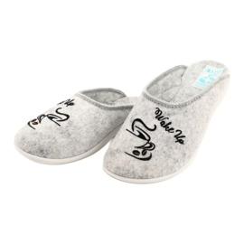 Plstěné pantofle Wake Up Adanex 25642 šedá černá 3