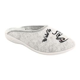 Plstěné pantofle Wake Up Adanex 25642 šedá černá 2