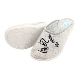 Plstěné pantofle Wake Up Adanex 25642 šedá černá 4