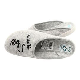 Plstěné pantofle Wake Up Adanex 25642 šedá černá 5