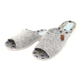 Plstěné pantofle Adanex 25494 šedá 2