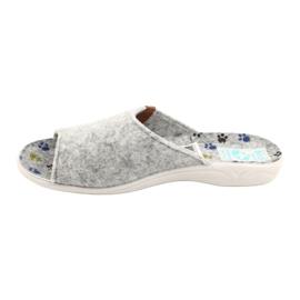 Plstěné pantofle Adanex 25494 šedá 1