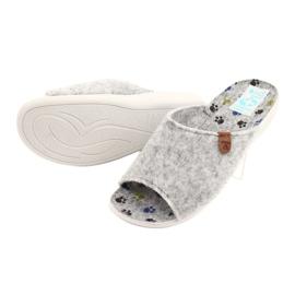 Plstěné pantofle Adanex 25494 šedá 3