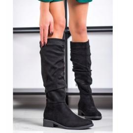 Sweet Shoes Semišové boty černá 2