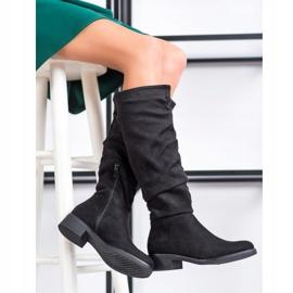 Sweet Shoes Semišové boty černá 1