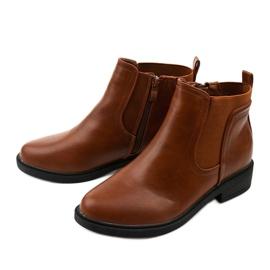 Velbloudí ploché kotníkové boty s Merriva z ekokože hnědý 2