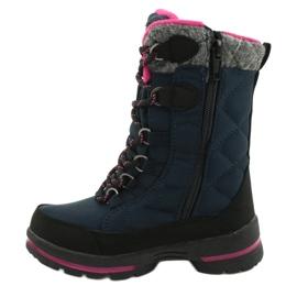 Sněhové boty s membránou American Club SN15 / 20 navy válečné loďstvo růžový šedá 1