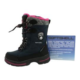 Sněhové boty s membránou American Club SN15 / 20 navy válečné loďstvo růžový šedá 4