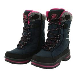 Sněhové boty s membránou American Club SN15 / 20 navy válečné loďstvo růžový šedá 2