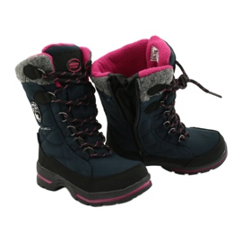 Sněhové boty s membránou American Club SN15 / 20 navy válečné loďstvo růžový šedá 3