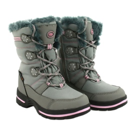 American Club Americké softhell nepromokavé boty SN13 / 20 šedá růžový 2
