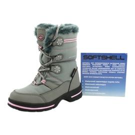 American Club Americké softhell nepromokavé boty SN13 / 20 šedá růžový 4