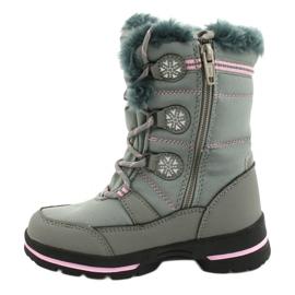 American Club Americké softhell nepromokavé boty SN13 / 20 šedá růžový 1