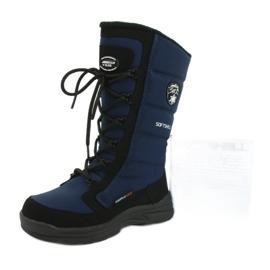 American Club Americké softshellové boty s membránou SN12 / 20 navy černá válečné loďstvo 5