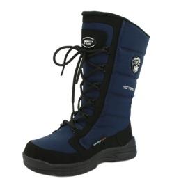 American Club Americké softshellové boty s membránou SN12 / 20 navy černá válečné loďstvo 6