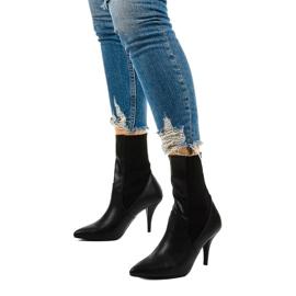 Černé vysoké podpatky s ponožkou Daywillow černá 2