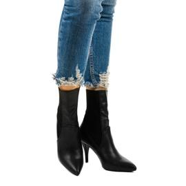 Černé vysoké podpatky s ponožkou Daywillow černá 1