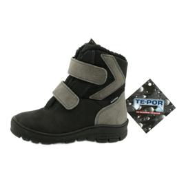 Černé boty s membránou Mazurek 1351 černá šedá 5