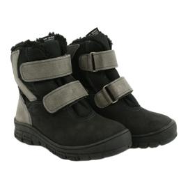 Černé boty s membránou Mazurek 1351 černá šedá 4