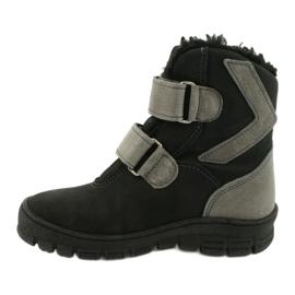 Černé boty s membránou Mazurek 1351 černá šedá 1