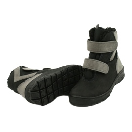 Černé boty s membránou Mazurek 1351 černá šedá 3