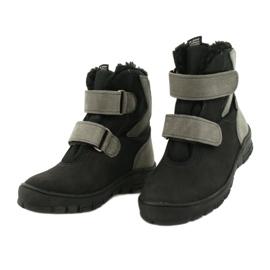 Černé boty s membránou Mazurek 1351 černá šedá 2