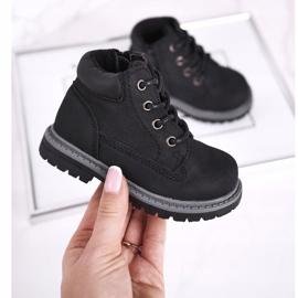 Apawwa Dětské chlapecké černé boty Kozačky Moa černá 3