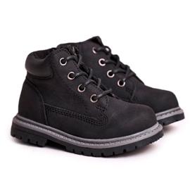 Apawwa Dětské chlapecké černé boty Kozačky Moa černá 4