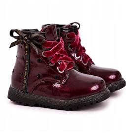 EVE Kaštanové lakované boty Essie červená 6