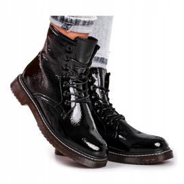 Černé lakované boty Evento 20DZ23-3216 Marita černá 2