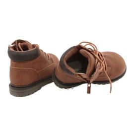 Apawwa Dětské chlapecké hnědé boty Kozačky Moa hnědý 4