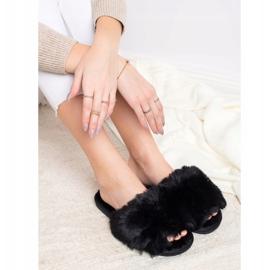 Bona Stylové černé pantofle černá 3