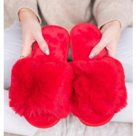 Bona Stylové červené pantofle červená 3