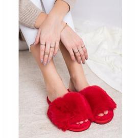 Bona Stylové červené pantofle červená 4