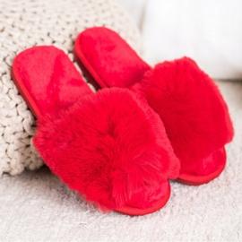 Bona Stylové červené pantofle červená 1